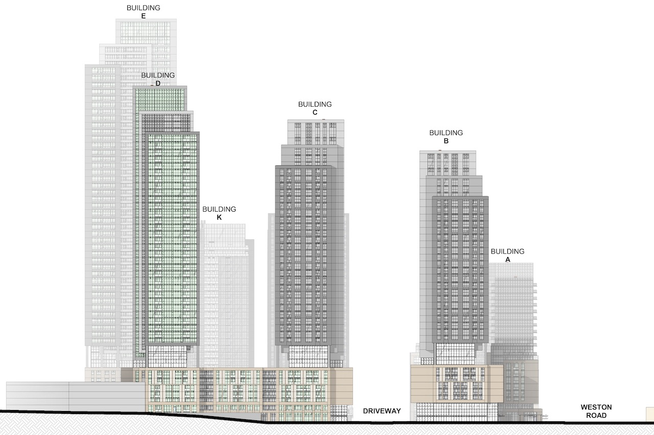 Casa Emery Village phases, North York, Toronto, designed by IBI Group for Medallion Corporation