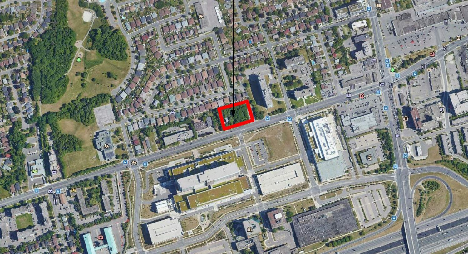 Location of 1184 Wilson Avenue, Toronto, designed by Architecture Unfolded for First Avenue Properties