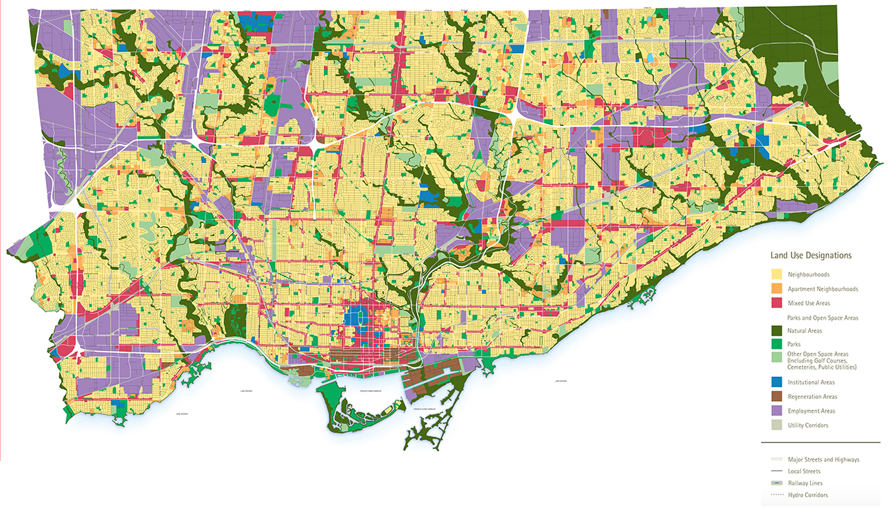 Map of Toronto Land Use Designations, Garden Suites