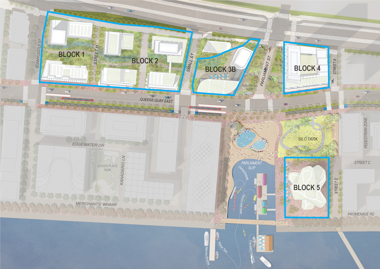 Quayside, Block Plan by Waterfront Toronto
