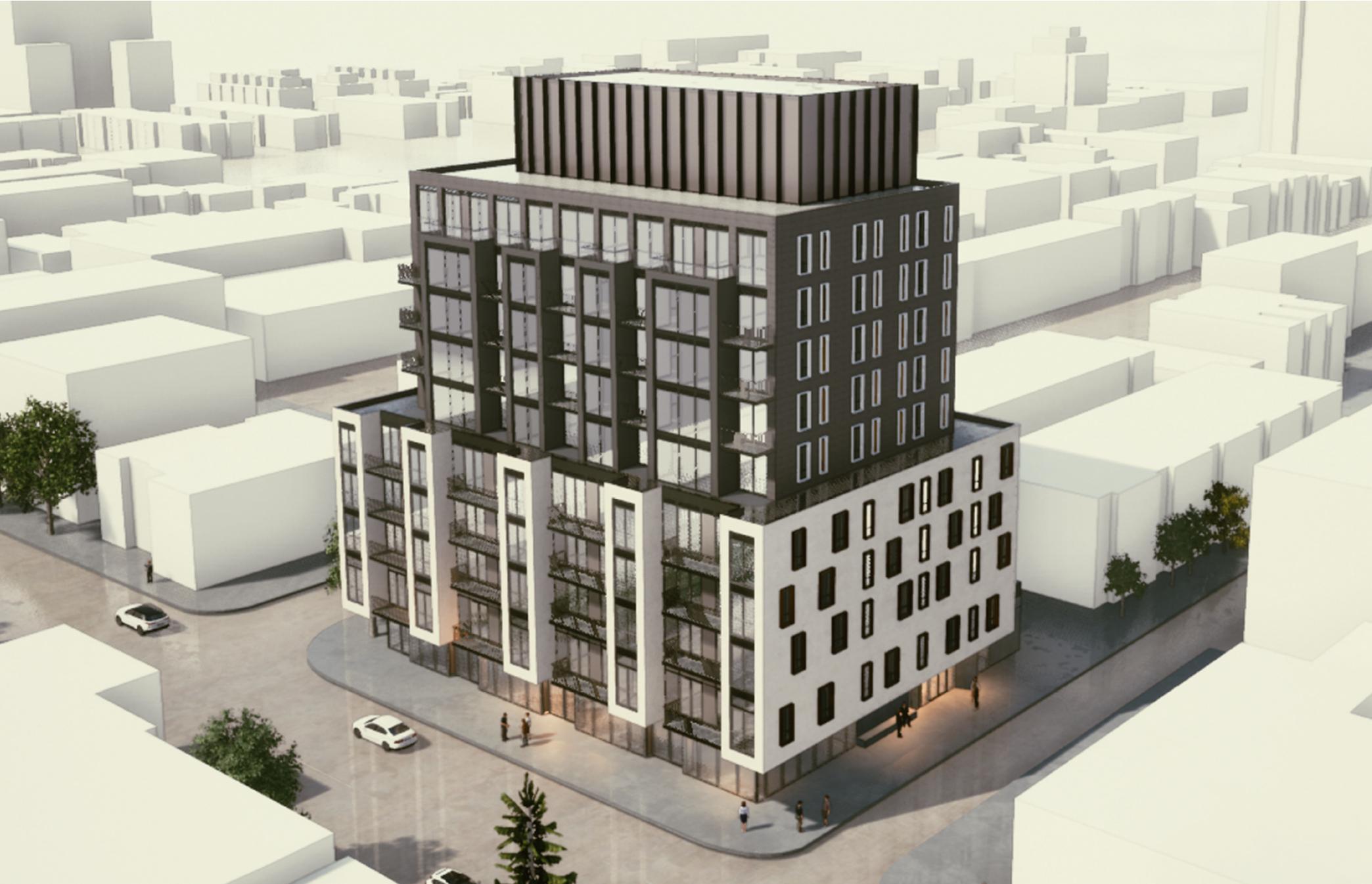 401 Dundas Avenue East, Toronto, designed by BDP Quadrangle for Plaza Partners
