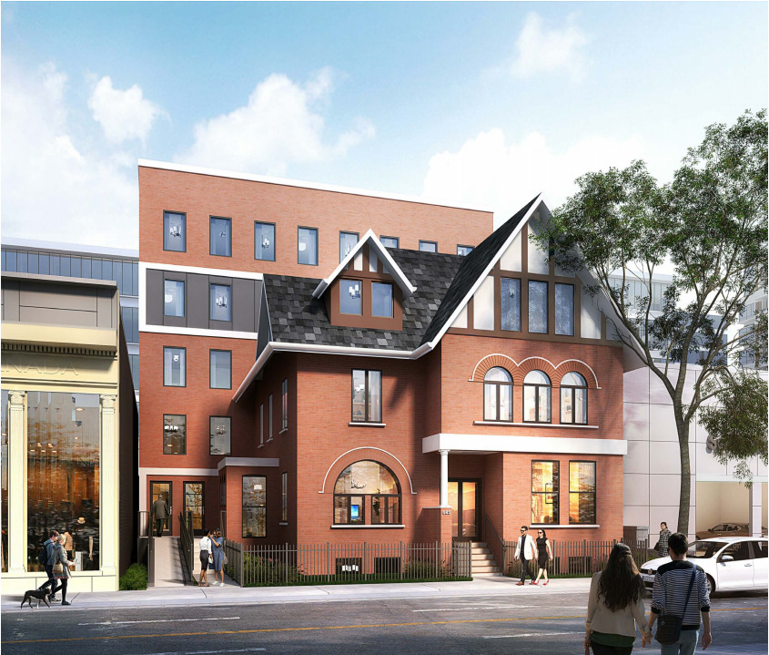 Previous Design, 685 Queen Street East, Toronto, designed by Kirkor Architects Planners for Streetcar Developments