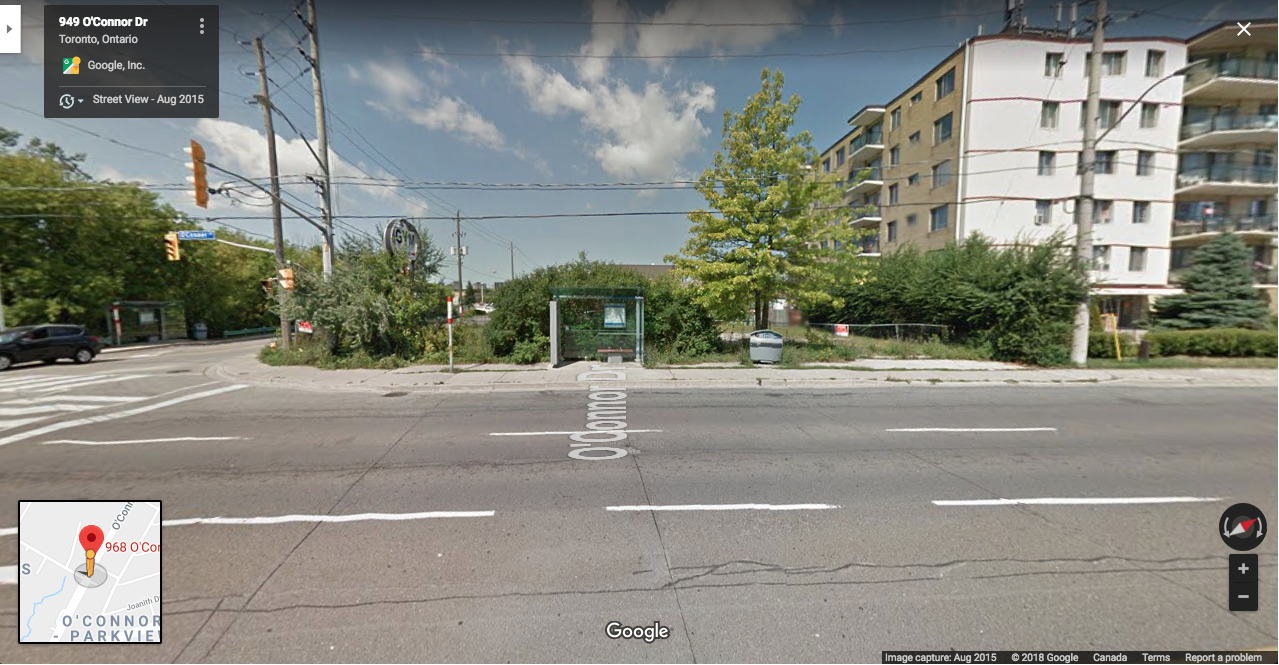 Current Site, 968 O'Connor Drive, RAW design, City of Toronto