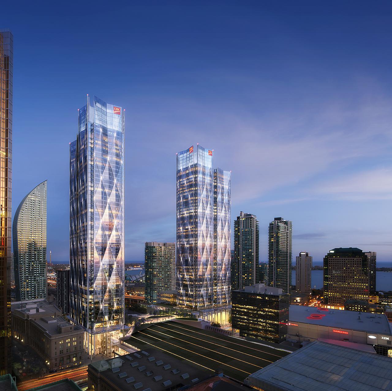 CIBC SQUARE, Hines,Ivanhoé Cambridge, WilkinsonEyre, Adamson Associates, Toronto