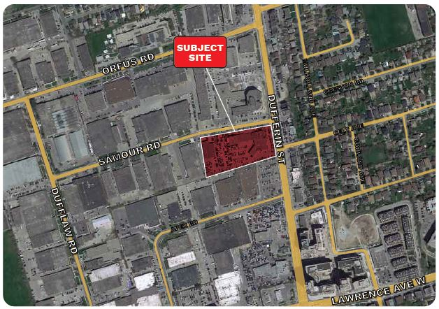 Location of Site, 3180 Dufferin Street, Toronto, designed by IBI Group for RioCan REIT and Woodbourne Canada Management Inc