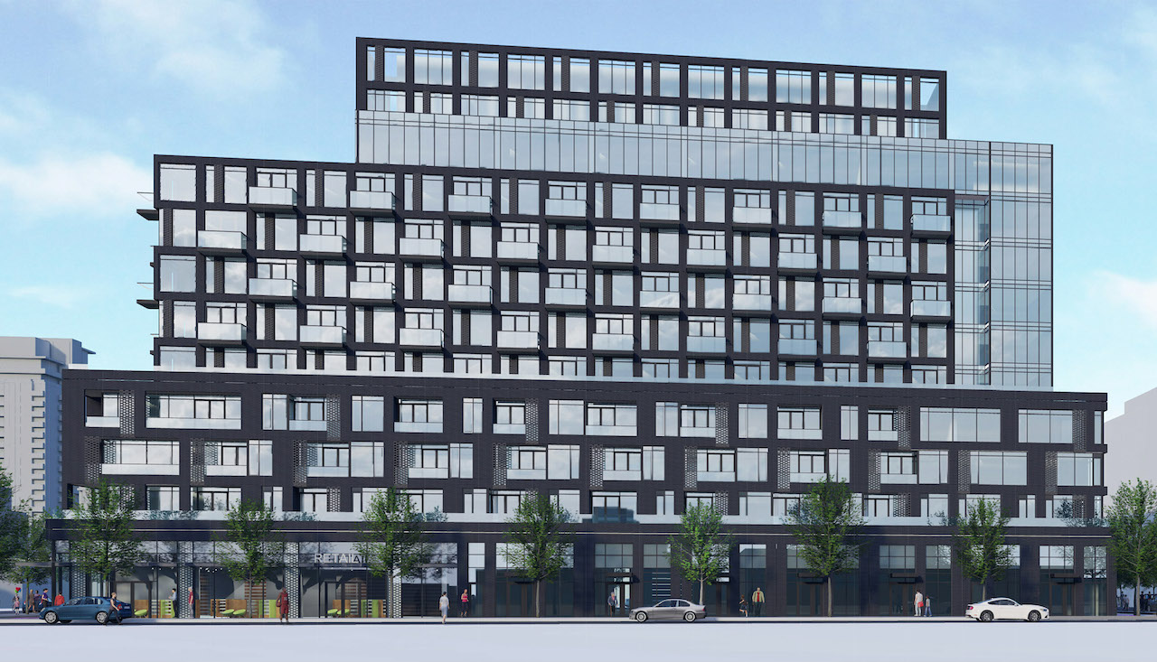 3180 Dufferin Street, Toronto, designed by IBI Group for RioCan REIT and Woodbourne Canada Management Inc