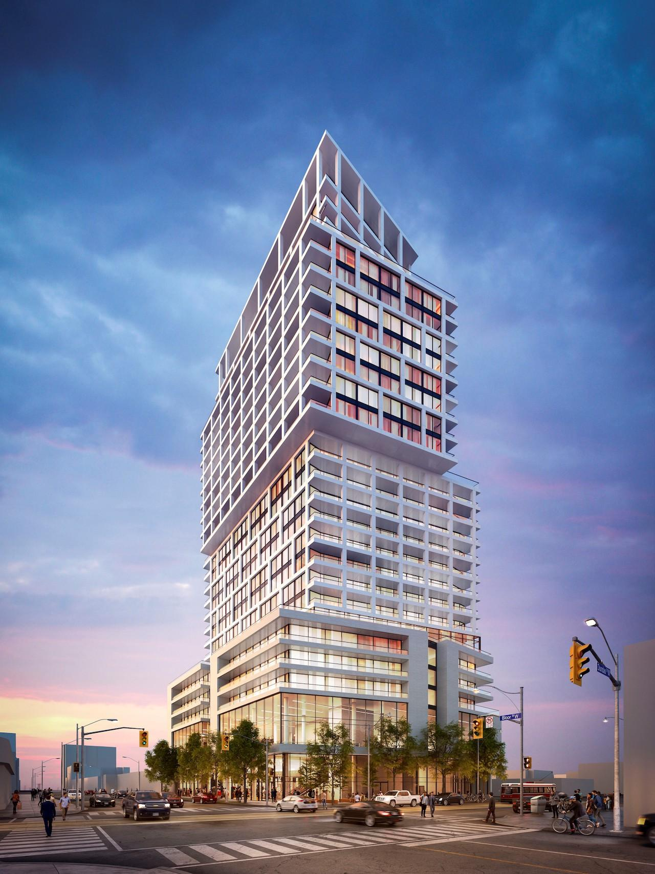 2018 Proposal, 1540 Bloor West, Toronto, designed by Core Architects for Trinity and Hazelview
