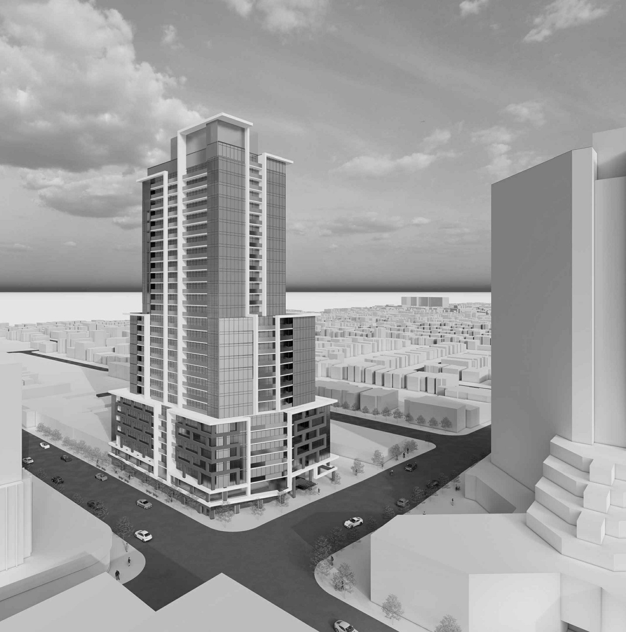 2021 Proposal for 1540 Bloor West, Toronto, designed by IBI Group for Trinity and Hazelview
