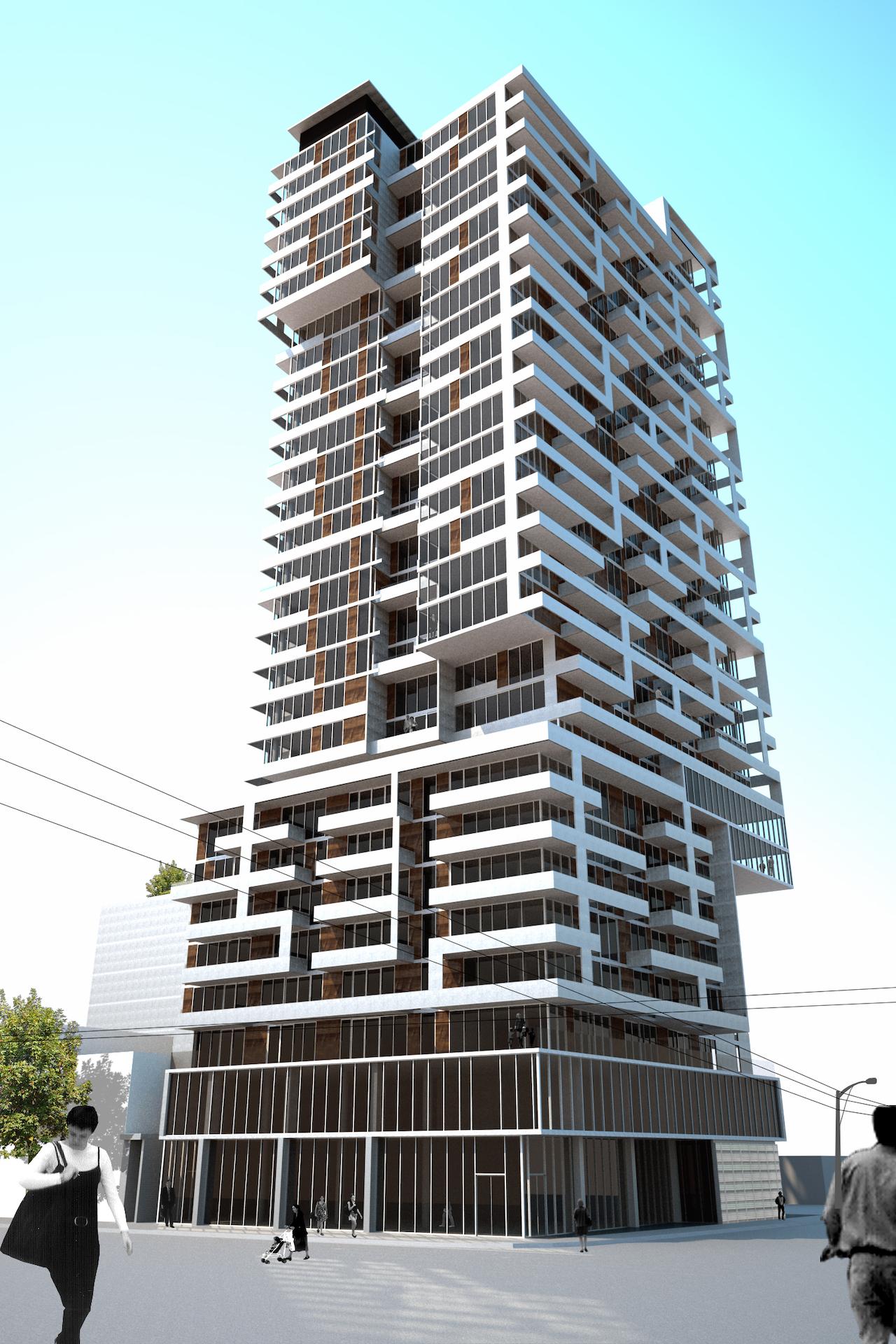 Giraffe Condos, Toronto, designed by Teeple Architects for TAS Design Build