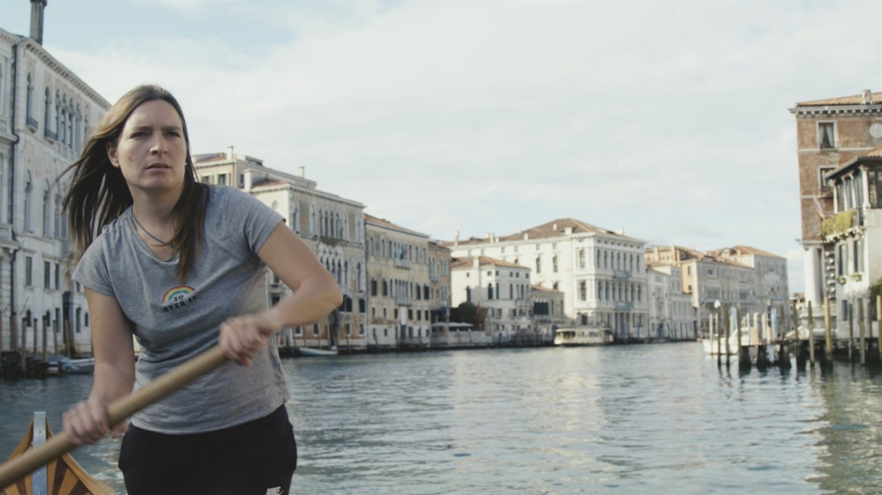Still from the film Molecules: a practically deserted Venice
