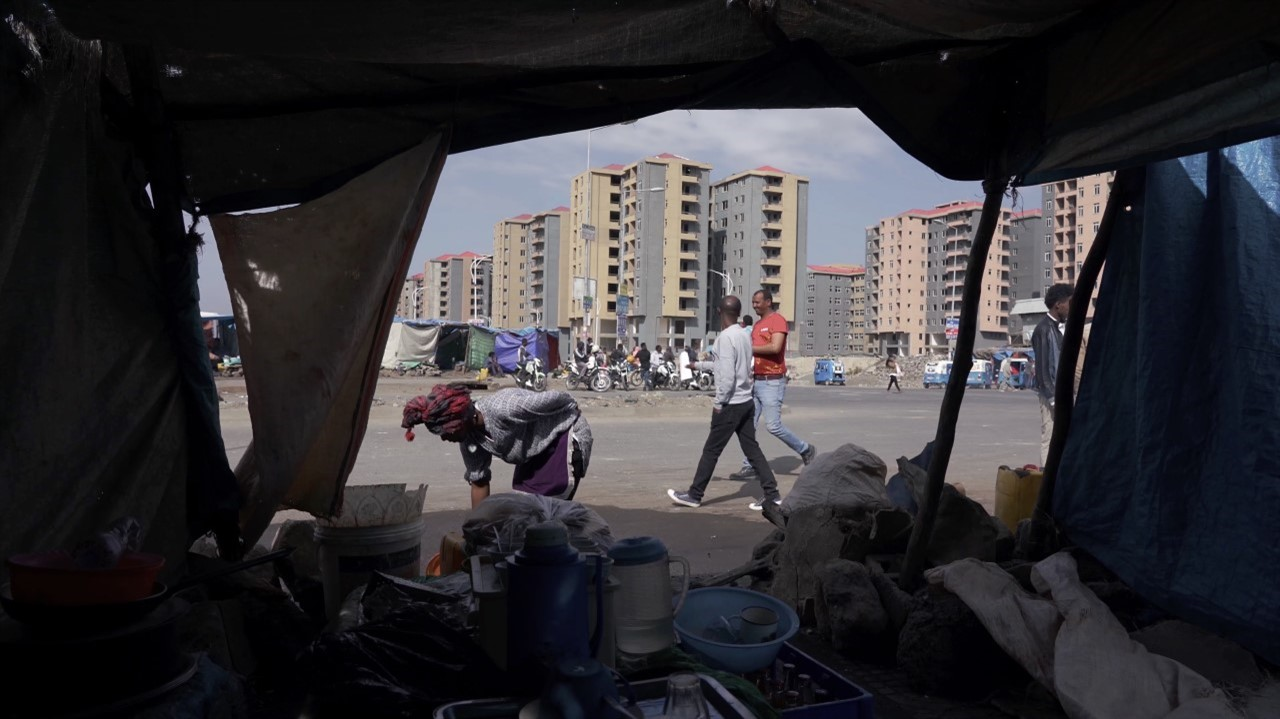 Still from the film Rift Finfinnee: from a makeshift foodseller to relentless urbanization in Addis Ababa