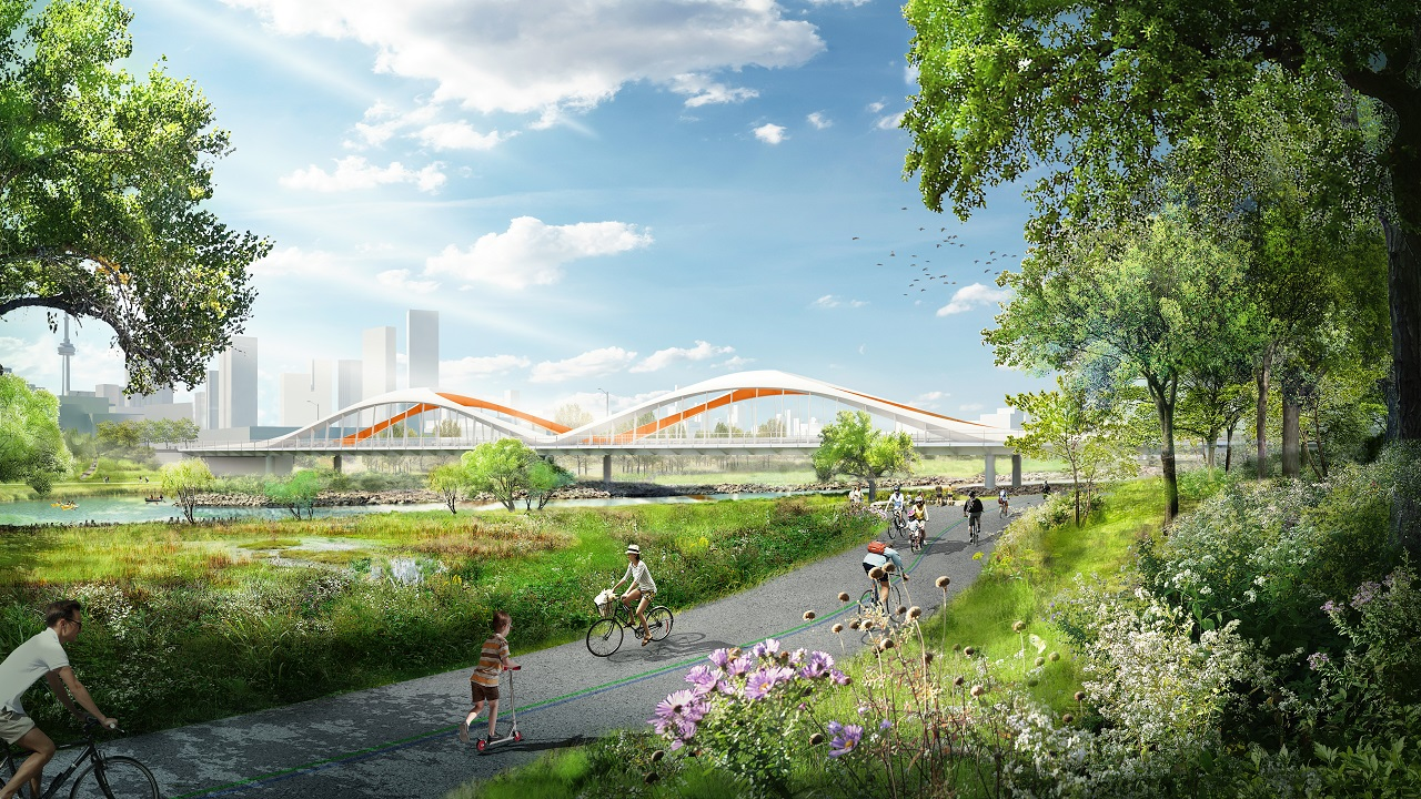 Commissioners Street Bridge, Waterfront Toronto, Port Lands