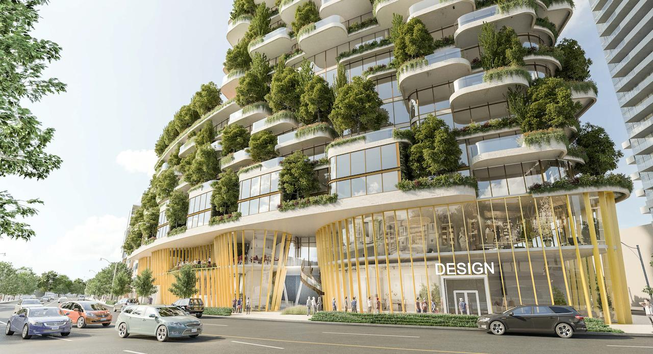 Designers Walk, Toronto, designed by BBB Architects for Cityzen Development Group and Greybrook Realty Partners.