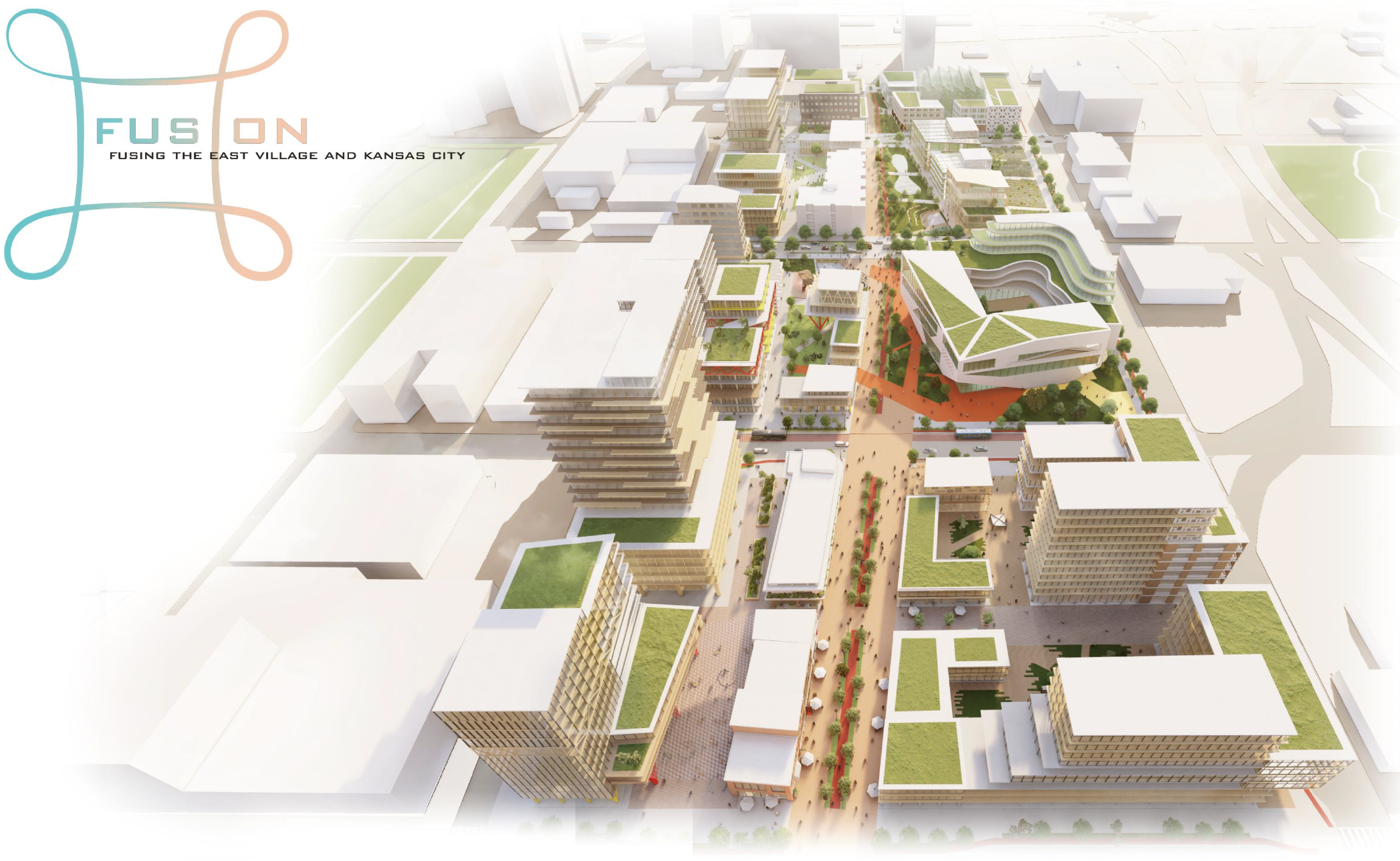 Winning proposal for Kansas City, designed by the Fusion team for ULI Hines Competition.