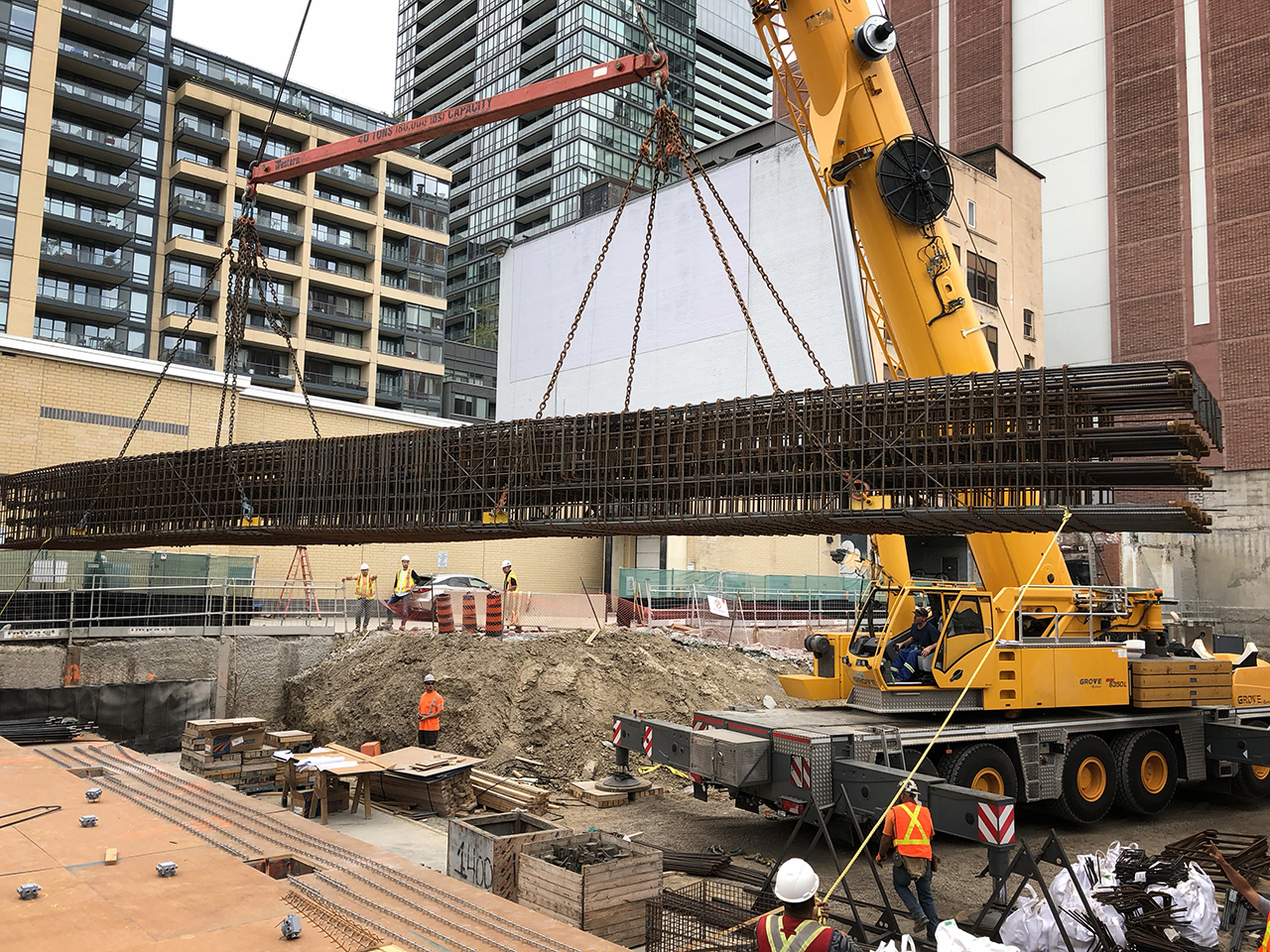 modular rebar, Toronto, construction, The Well, The One, The Taylor