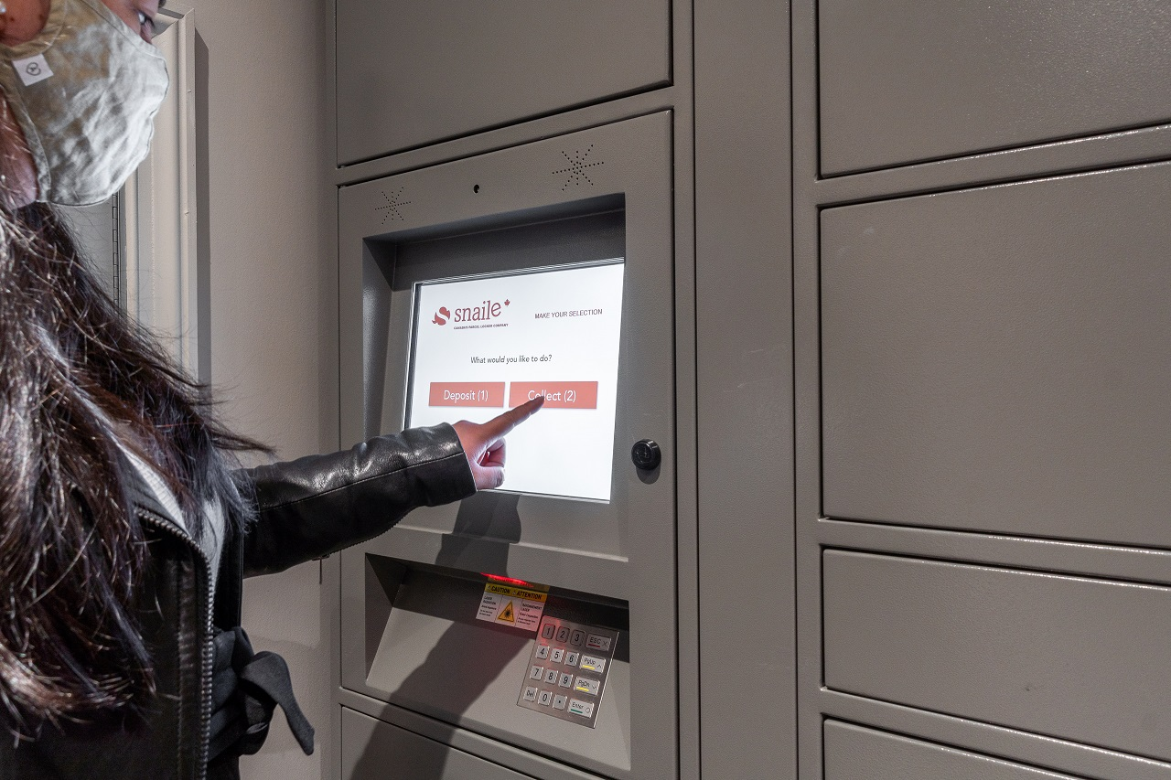Snaile Inc., parcel storage lockers, contactless delivery, multi-residential, Toronto, 1VALET