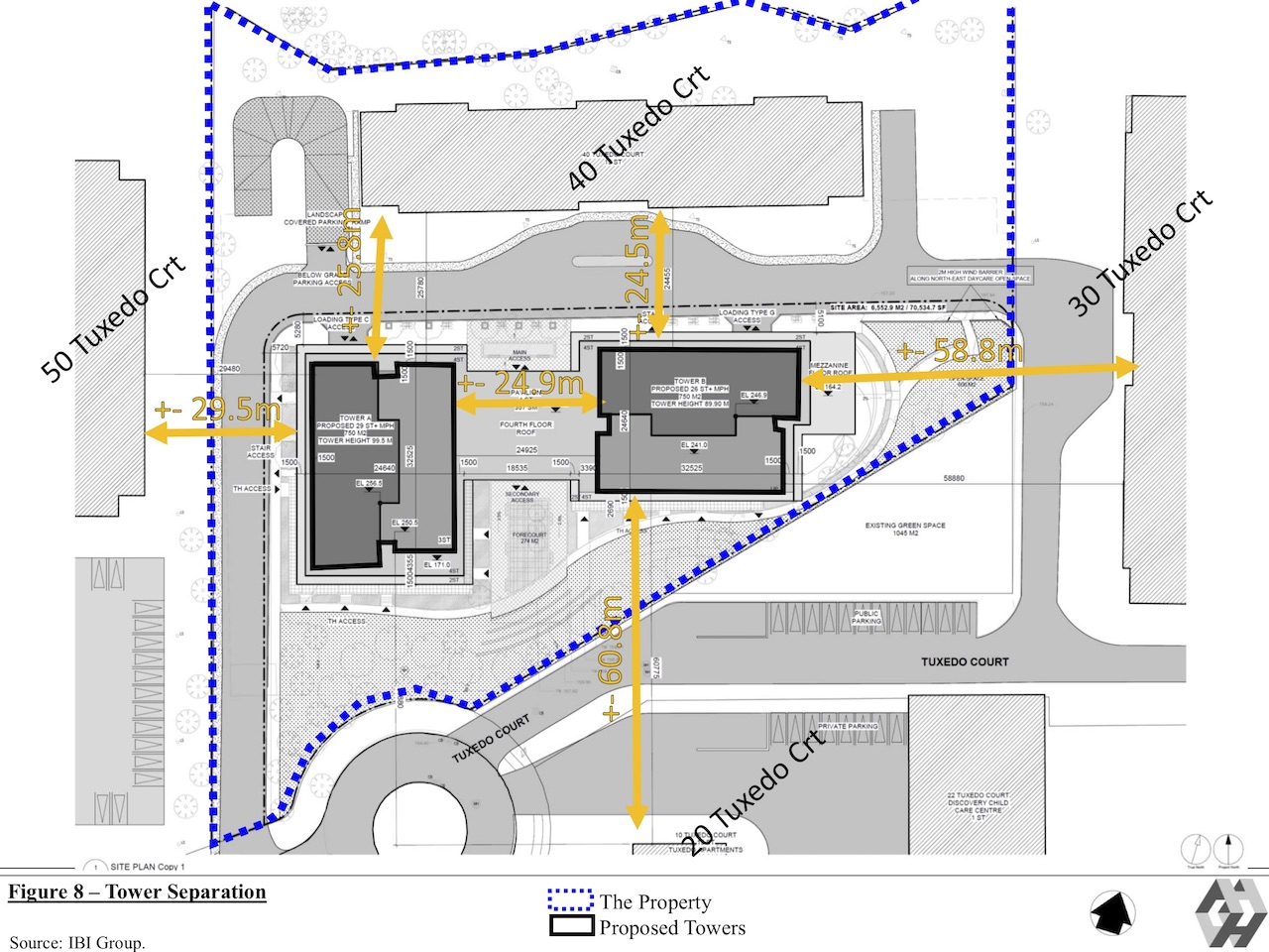Site Plan, 42 Tuxedo Court, Toronto, designed by IBI Group for Reserve Properties