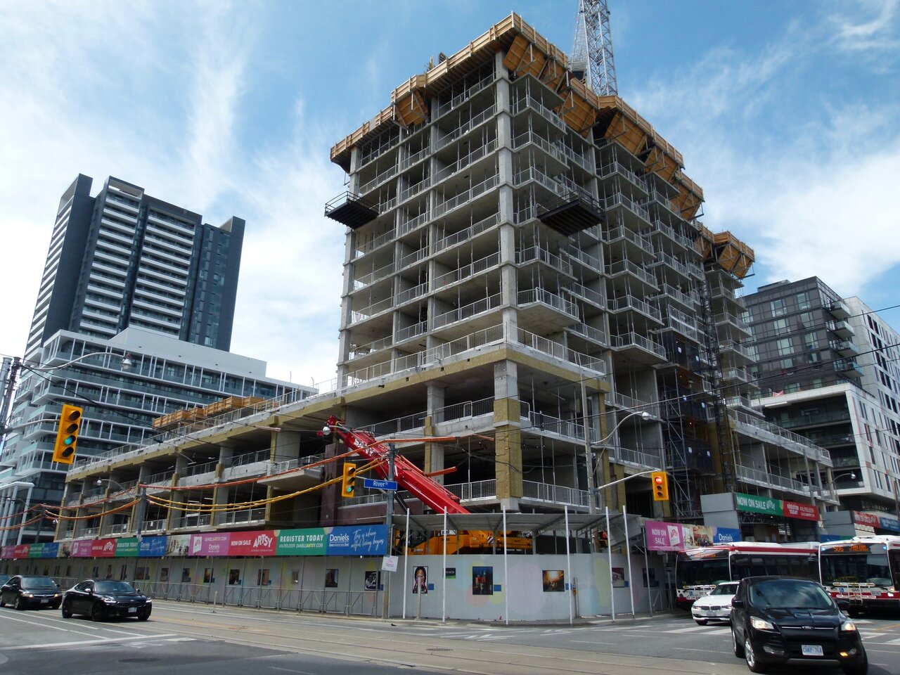 Artworks Tower and Artsy Boutique Condos, The Daniels Corporation, BDP Quadrangle, Kirkor, Toronto, Regent Park