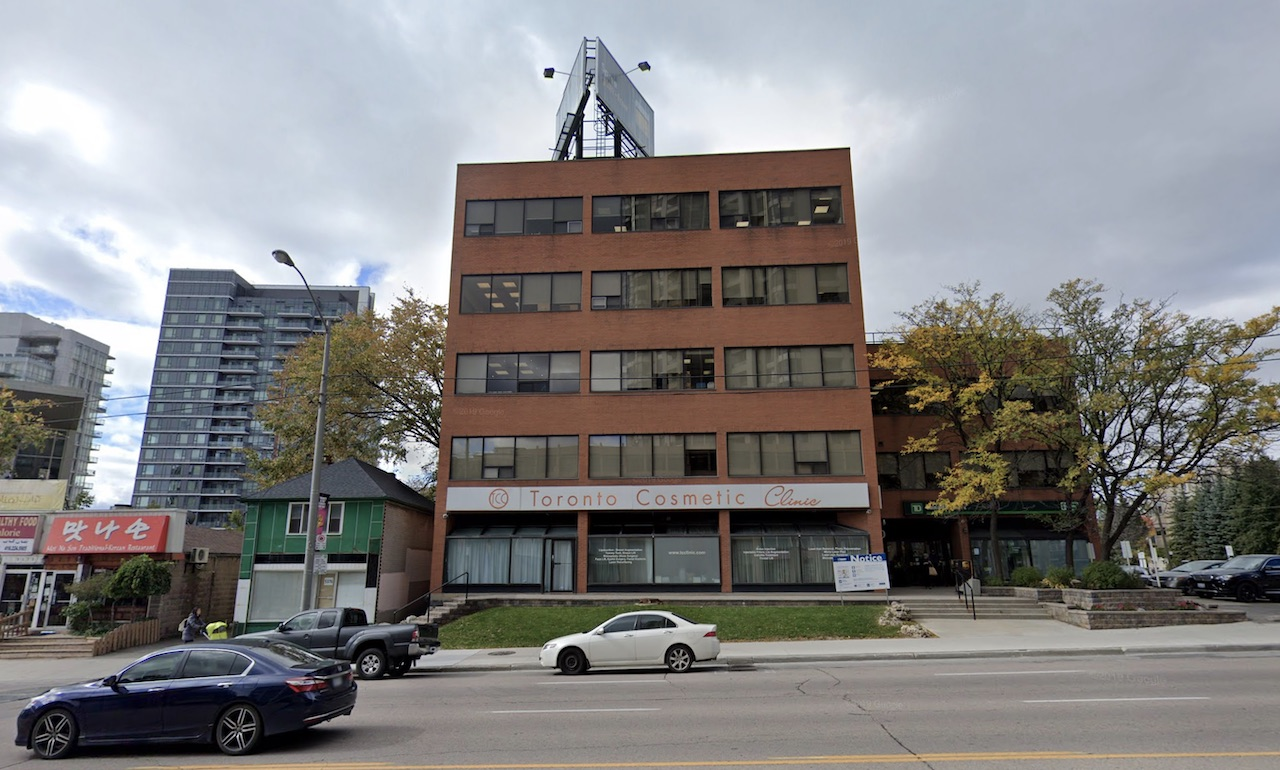 Site of the proposed development, 5400 Yonge Street, Toronto, image retrieved from Google Street View