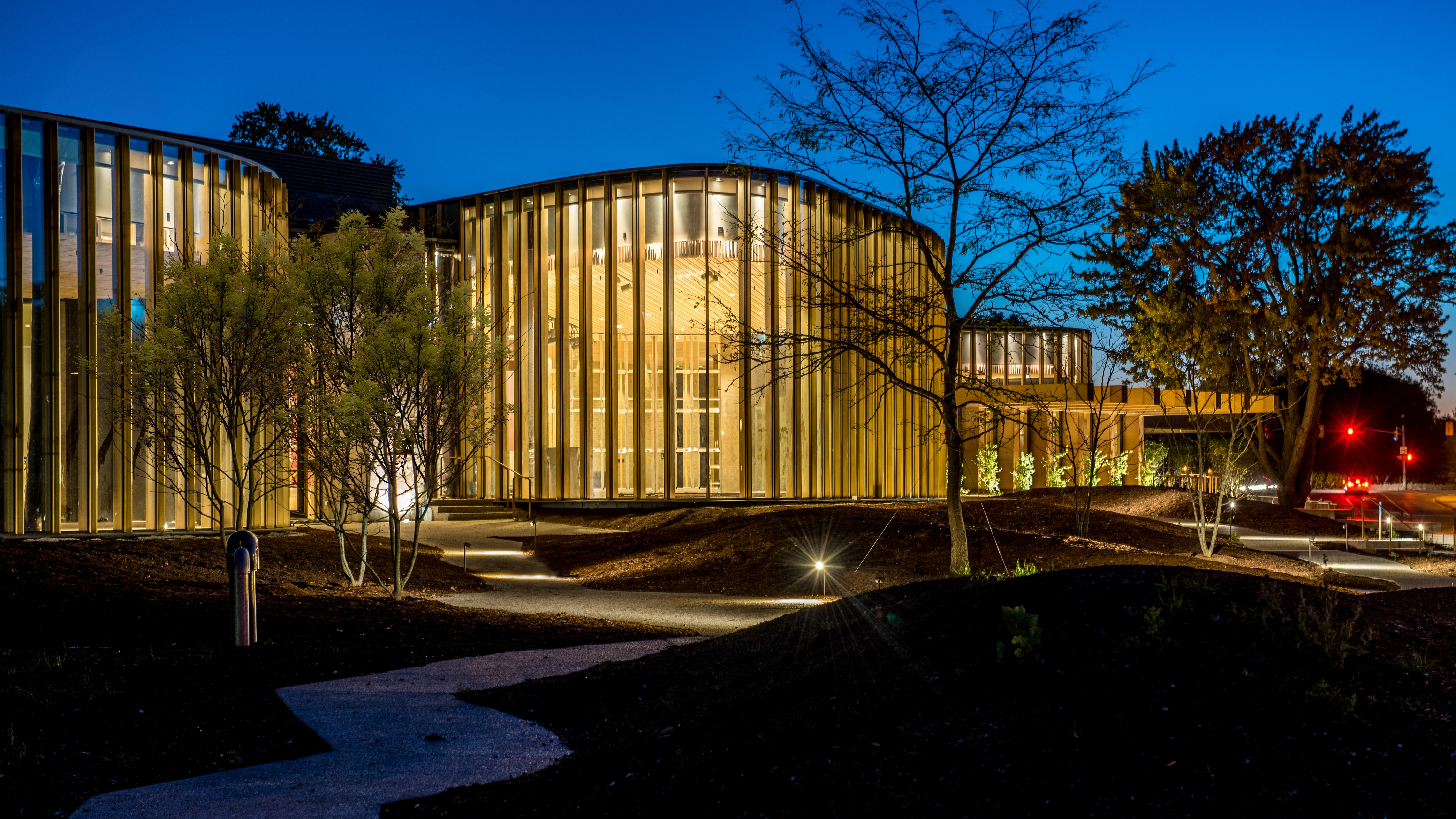 The new Tom Patterson Theatre, Lakeside Drive, Stratford, designed by Hariri Pontarini.