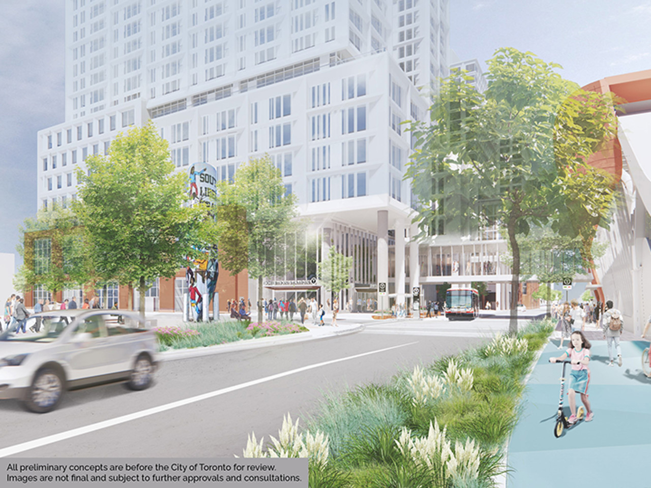 Rendering of proposed Jefferson Avenue site near Exhibition Station