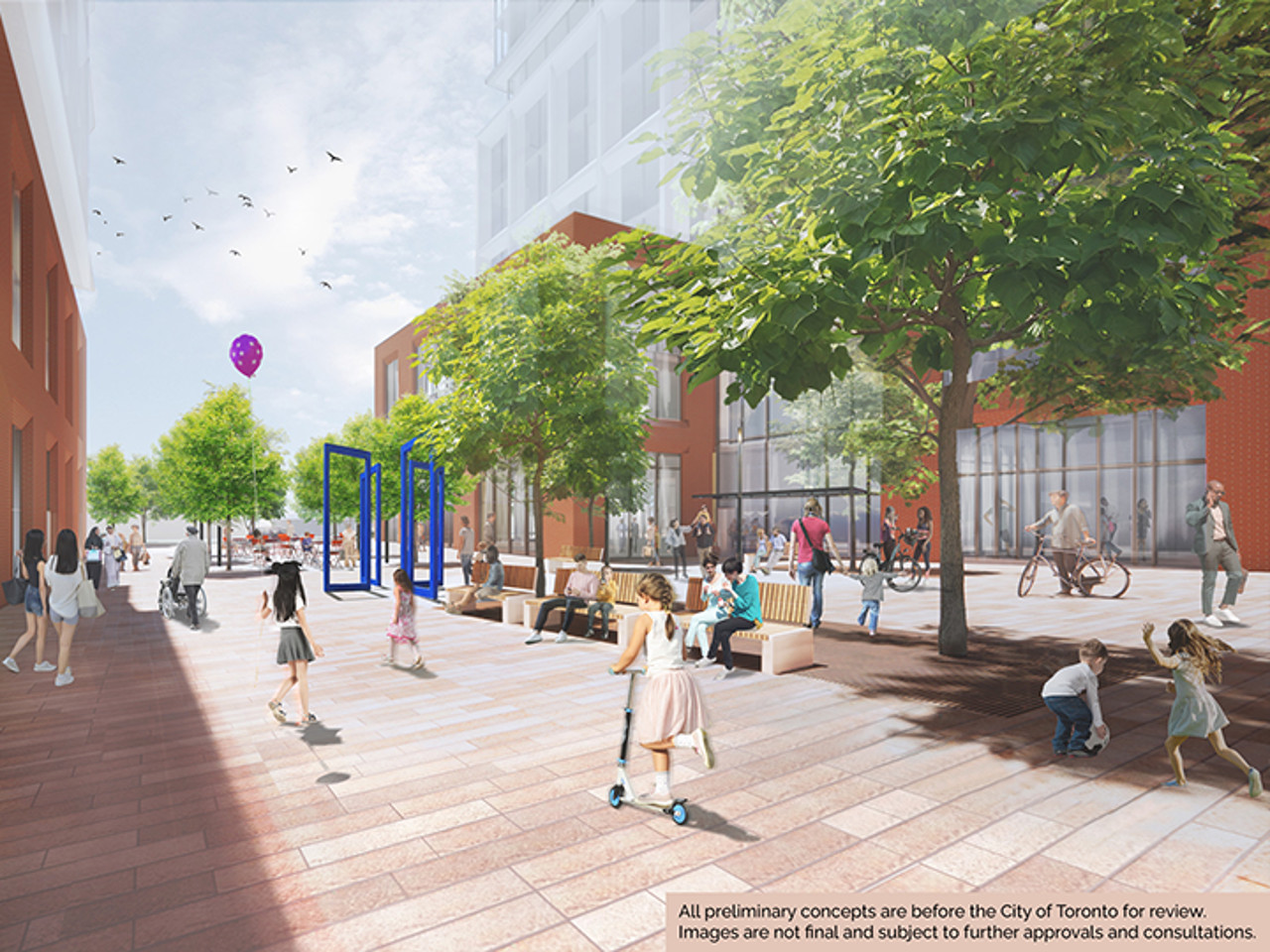 Rendering of proposed Dufferin site near Exhibition Station