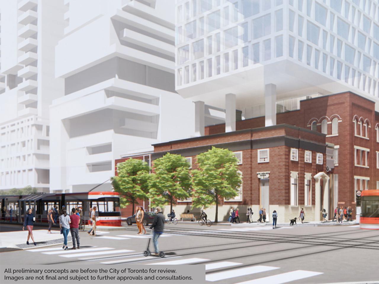 Rendering of proposed King-Bathurst Station site