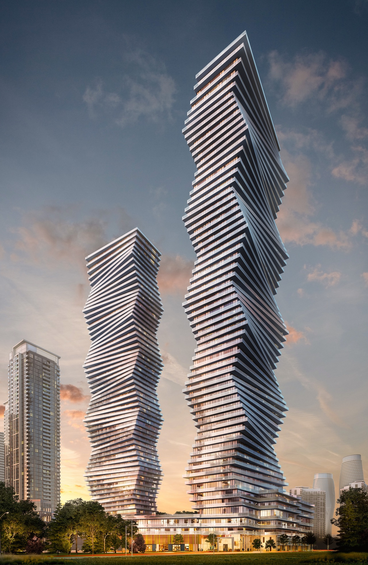 M City Phase 1 & 2, Mississauga, by Core Architects for Urban Capital and Rogers