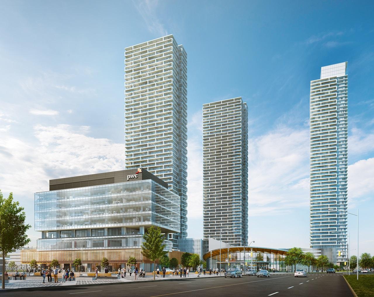 Transit City Condos, Vaughan, designed by Diamond Schmitt for CentreCourt