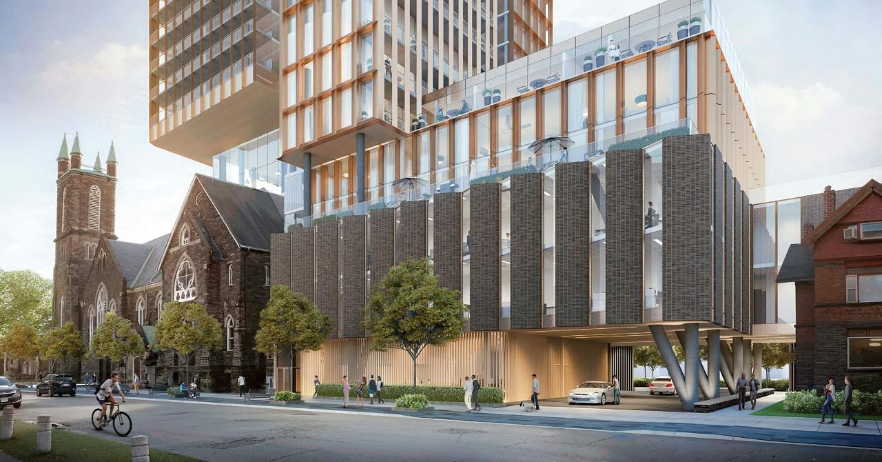 Cielo Condos at 300 Bloor West, Toronto, designed by KPMB for Collecdev, Northrop, and BSUC