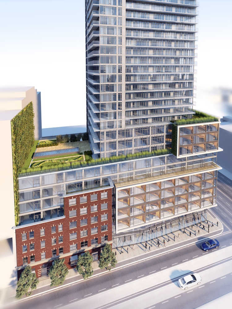 Podium at Four Eleven King, Toronto, designed by KPMB and Quadrangle for Great Gulf and Terracap